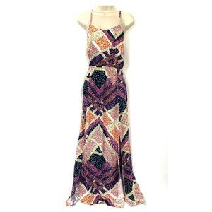 Divided H&M 6 Maxi Sundress Floral Calico Rayon